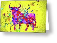 Spanish Bull  Toro Bravo Greeting Card