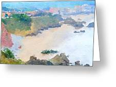 Spanish Coastline Waterline  Greeting Card