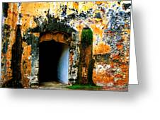 Spanish Fort Doorway Greeting Card