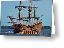 Spanish Galleon Greeting Card