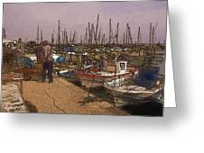 Spanish Harbour Greeting Card