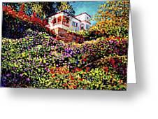 Spanish House Greeting Card by David Lloyd Glover