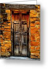 Spanish Mission Door Greeting Card