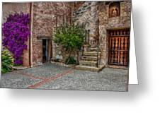 Spanish Mission's Back Entrance.  Greeting Card