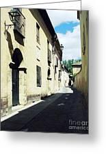 Spanish Narrow Street Greeting Card