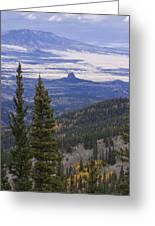 Spanish Peaks Greeting Card by Charles Warren