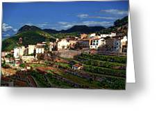 Spanish Terraces Greeting Card