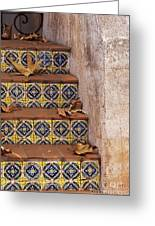 Spanish Tile Stair  Greeting Card