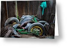 Spare Tires A-plenty Greeting Card