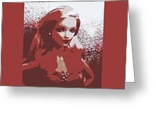 Sparkle Barbie Greeting Card