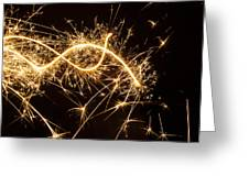 Sparkler In Christmas Greeting Card