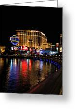 Sparkling Las Vegas Neon - Planet Hollywood Greeting Card