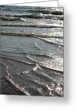 Sparkling Sunshine On Gentle Surf Greeting Card by Carol Groenen