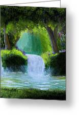 Sparkling Waterfall Greeting Card