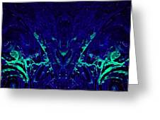 Sparkly Blues In. A Greeting Card