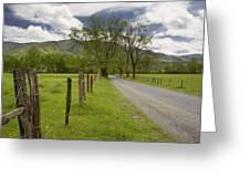 Sparks Lane In Cade Cove Greeting Card