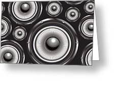 Speakers Over Black Greeting Card