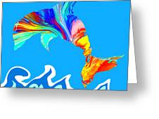 Speaking With Dolphins Greeting Card