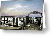 Speared Sunset Over Martha's Vineyard Greeting Card