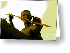 Spearfishing Man Greeting Card
