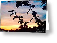 Special View Of Sunset Greeting Card