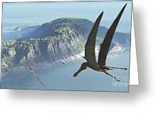 Species From The Genus Anhanguera Soar Greeting Card