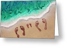Speck Family Beach Feet Greeting Card