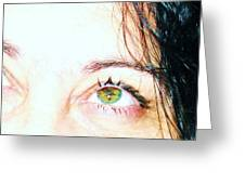 Speckled Eyes Greeting Card