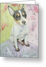 Speckled Nose Muddy Toes Greeting Card