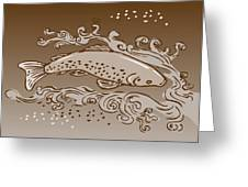 Speckled Trout Fish Greeting Card by Aloysius Patrimonio