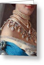 Historical Fashion, Royal Jewels On Empress Of Russia, Detail Greeting Card