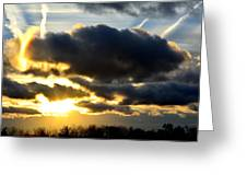 Spectacular Sunrise In Clouds Greeting Card