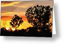 Spectacular Sunset In The Midwest Greeting Card