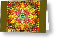 Spectracalia In Yellow Catus 1 No. 3 H A Greeting Card