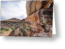 Spectral Light On The Cliffside Greeting Card