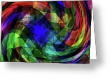 Spectrum Swirls Greeting Card