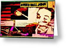 Speed Ball Junk Greeting Card