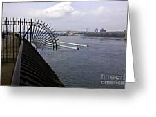 Speed Boats On The East River Greeting Card