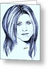 Speed Drawing Of Jennifer Aniston  Greeting Card