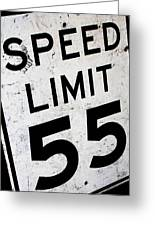 Speed Limit Greeting Card