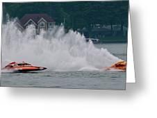 Speedboat Trials 1961 Greeting Card