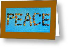Spelling Peace Greeting Card