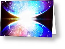 Sphere Circuit Board  Greeting Card
