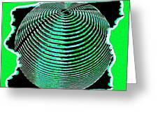 Sphere In Green Greeting Card
