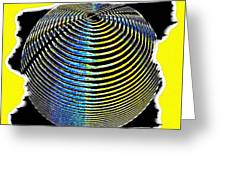 Sphere In Yellow Greeting Card