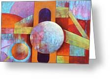 Spheres And Beams Greeting Card