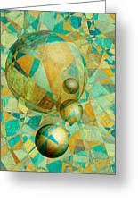 Spheres Of Life's Changes Greeting Card
