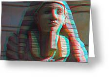 Sphinx - Use Red-cyan 3d Glasses Greeting Card