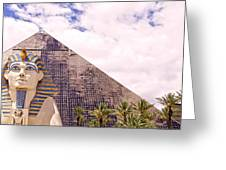 Sphinx Clouds Greeting Card