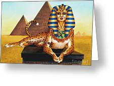 Sphinx On Plinth Greeting Card